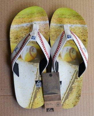 Reef 全新 現貨 棒球造型 夾腳拖鞋 海灘鞋 耐用 啤酒開瓶器 增添趣味  US9