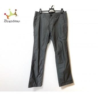 バーバリーブラックレーベル パンツ サイズ73 メンズ 美品 グレー×白 ストライプ スペシャル特価 20190917
