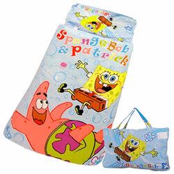【海綿寶寶】俏皮寶寶幼教兒童睡袋(4*5尺-藍)