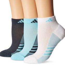 Adidas 2018女Superlite低切黑藍白運動雙色塊短襪混搭3入組