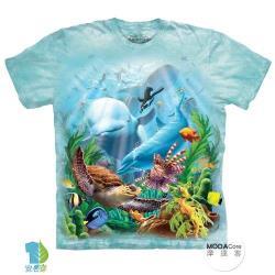 摩達客 (預購)(大尺碼3XL)美國進口The Mountain 海洋世界 純棉環保藝術中性短袖T恤