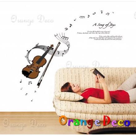 【橘果設計】小提琴 壁貼 牆貼 壁紙 DIY組合裝飾佈置