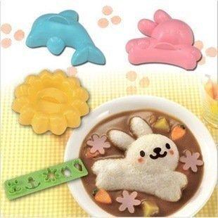 【波波的家】日本進口 Arnest正版兔子 花 海豚動物飯糰壽司 米飯模具 模型 便當親子DIY