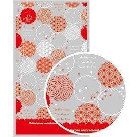 【天愛包裝屋】新年 - OPP 10 x 18 cm 璀璨花鑲平口糖果袋、花茶袋、美容用品袋