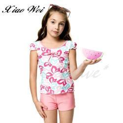 聖手品牌 時尚女童兩件式泳裝 NO.A828208