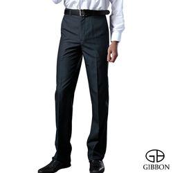 GIBBON 簡約直紋平口西裝褲‧深藍31-42