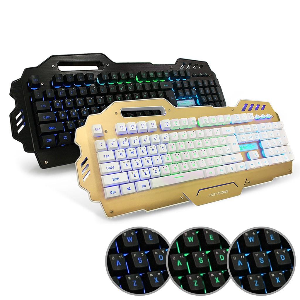 aibo AK-7000 多媒體背光電競鍵盤(19鍵不衝突)-黑色/金色 【現貨】