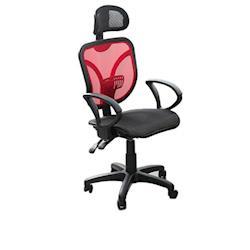 凱堡 SR全網頭枕美背腰墊仰躺固定透氣辦公椅