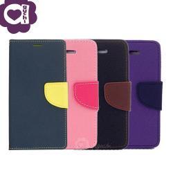 Samsung Galaxy S10 (6.1吋) 馬卡龍雙色側掀手機皮套 磁吸扣帶 支架式皮套 藍黑棕粉紫多色可選