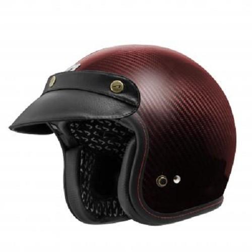 【ASTONE】SPORSTERII 原色 素色(酒紅) 碳纖維 安全帽 復古帽 內襯可拆洗 雙D扣