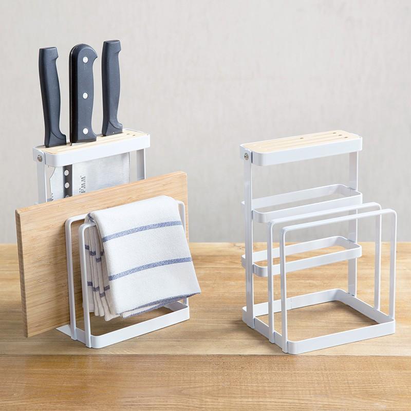 居家家 鐵藝鍋蓋架菜板架廚房置物架 放鍋蓋架子刀架收納架砧板架