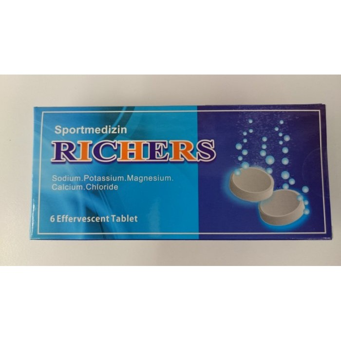 RICHERS 樂解電解質發泡錠-6入 (腹瀉、發燒、大量運動者適用) 專品藥局【2003625】