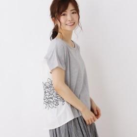 [マルイ]【セール】布帛ドッキング刺繍プルオーバー/サンカンシオン(レディス)(3can4on Ladies)