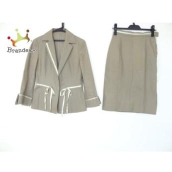 ランバンコレクション スカートスーツ サイズ36 S レディース ダークグリーン リボン スペシャル特価 20190821