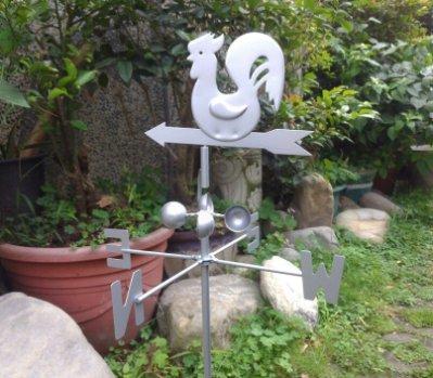 *鐵板公雞(銀)風向器花插* 打造您庭園的最佳藝品 MIT
