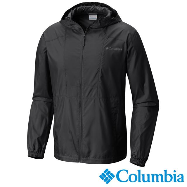 Columbia哥倫比亞 男款-防潑水風衣外套-深灰 UKE39720DY