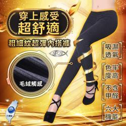 5B2F【五餅二魚】橫條紋彈力內搭褲(粗細紋)