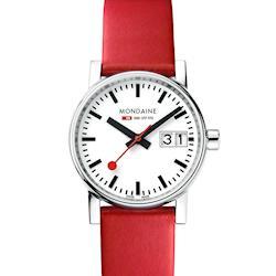 MONDAINE 瑞士國鐵evo2時光走廊腕錶-30mm/紅 30210LC