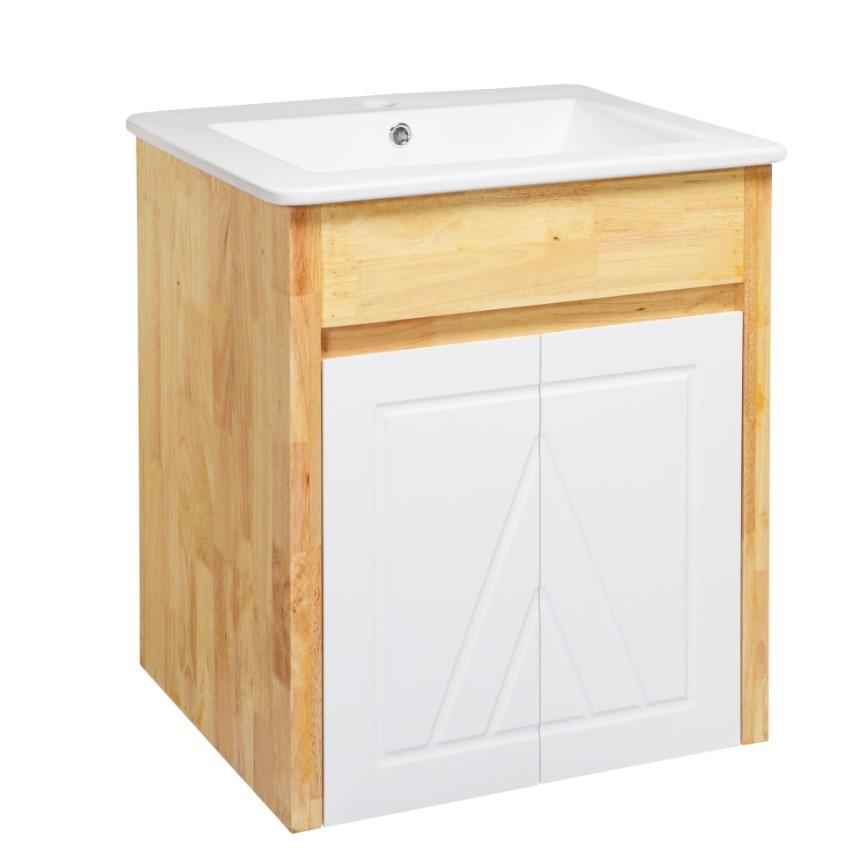 Cozy衛浴 鄉村橡木臉盆浴櫃 型號 GR-9053 尺寸 寬54x深47x高62cm 陶瓷釉面 含龍頭配件