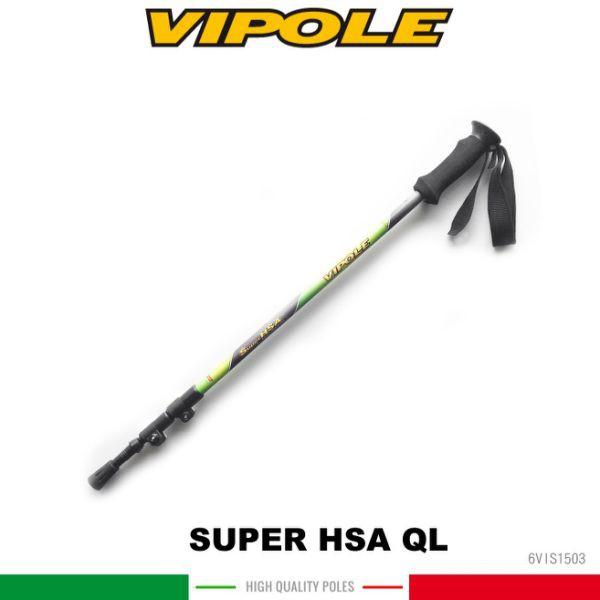 【VIPOLE 義大利 SUPER HSA QL雙快調油壓避震登山杖《綠》】S-1503/手杖/爬山/健行杖