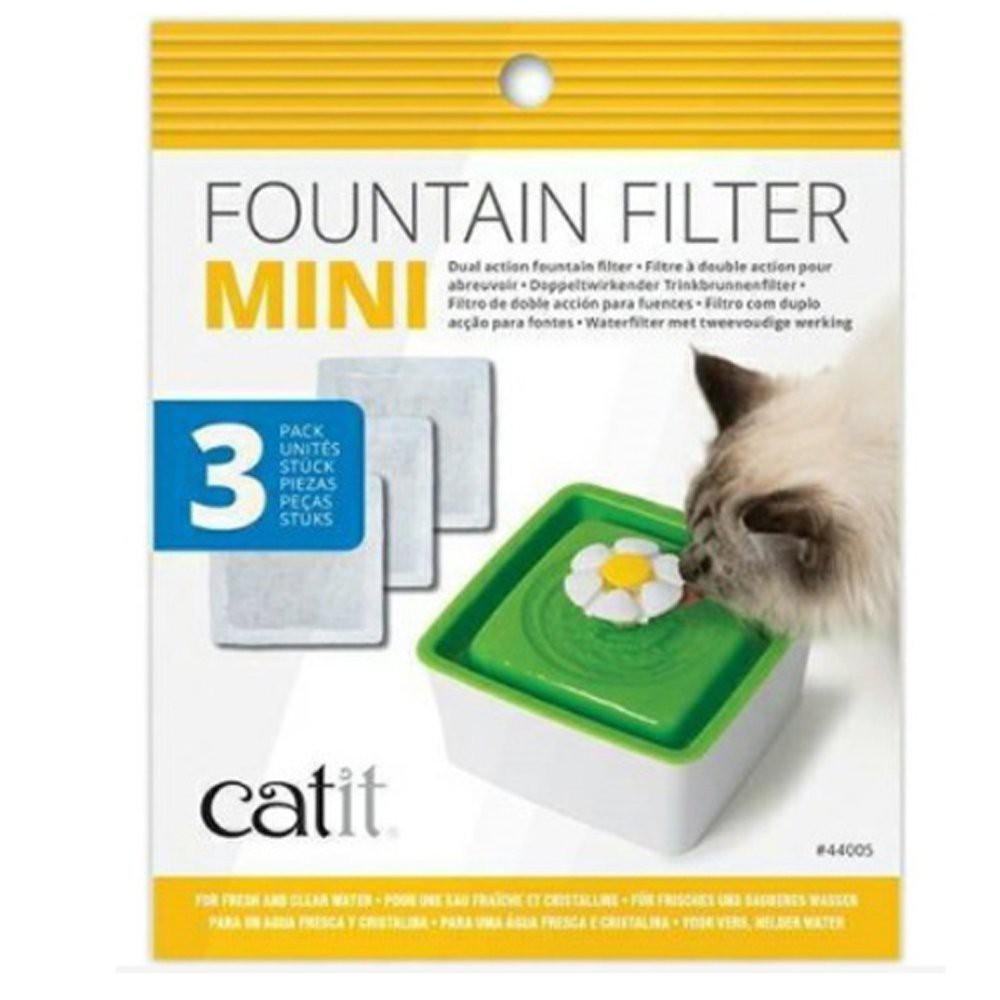 CATIT 2.0 《迷你飲水器活性炭濾棉-一包3入》花朵自動噴泉飲水器用〔李小貓之家〕