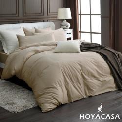 HOYACASA時尚覺旅 加大300織長纖細棉被套床包四件組(多色任選)