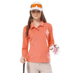 【SPAR】吸濕排汗女版長袖POLO衫(SP77533)朱雀紅色