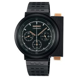SEIKO X GIUGIARO 限量科幻計時碼錶-黑/43mm 7T12-0BR0SD(SCED043J)