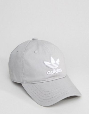 ADIDAS ORIGINALS TREFOIL CAP BK7282 灰色三葉草 愛迪達 老帽