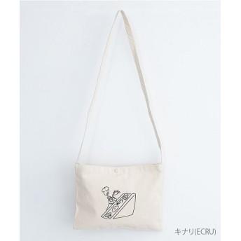 メルロー 画家のおじさんフルーツサンドイッチ厚手コットンサコッシュ レディース キナリ FREE 【merlot】