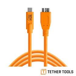 Tether Tools CUC3315-ORG  Pro 傳輸線USB-C to 3.0 Micro B-公司貨