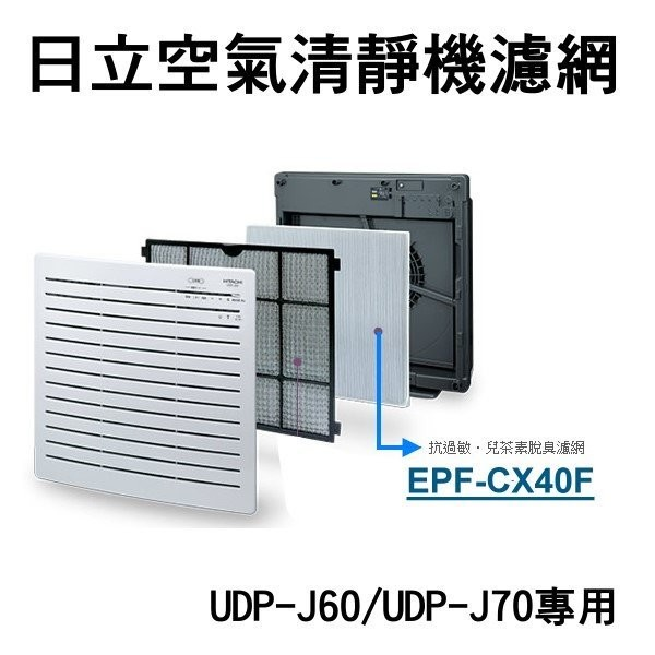 日立空氣清淨機-專用濾網 EPF-CX40F 專用UDP-J60/UDP-J70