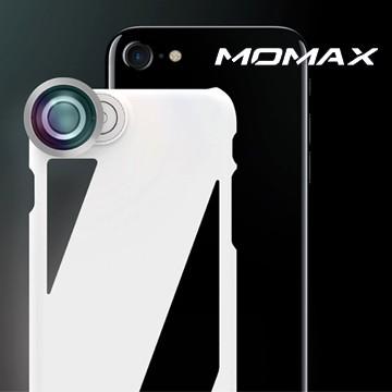 MOMAX X-Lens iphone7專用 專業拍照手機殼/附120度廣角+15X微距鏡頭-透明 黑 粉 綠