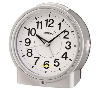 嚴選時計屋【SEIKO】精工 SEIKO 靜音 夜晚感光LED常駐照明 時鐘 鬧鐘 QHE117 QHE117S
