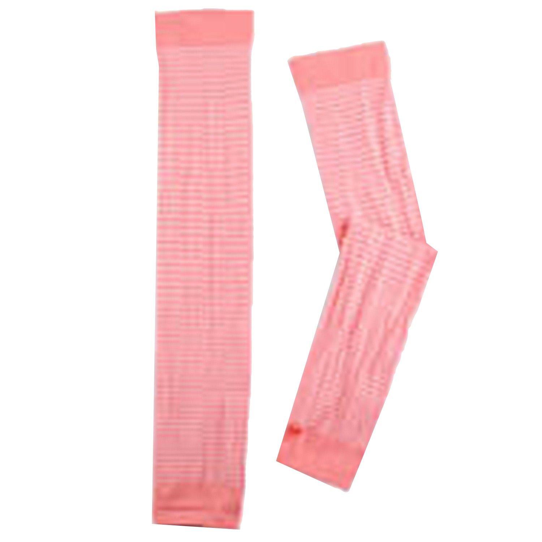 貝柔 Peilou - 高效涼感防蚊抗UV袖套-親子條紋-桃