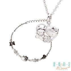 甜蜜約定 HelloKitty 愛是唯一純銀項鍊+約定純銀手鍊