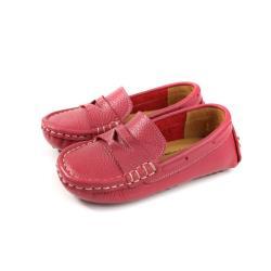懶人鞋 豆豆鞋 休閒鞋 童鞋 桃紅色 中童 P-983-13 no239