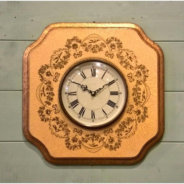 《齊洛瓦鄉村風雜貨》義大利復古裂紋金邊版畫掛鐘 時鐘