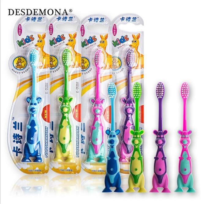 兒童牙刷 3-12歲細軟毛小頭兒童牙刷 男女寶寶卡通牙刷 [DM商城]