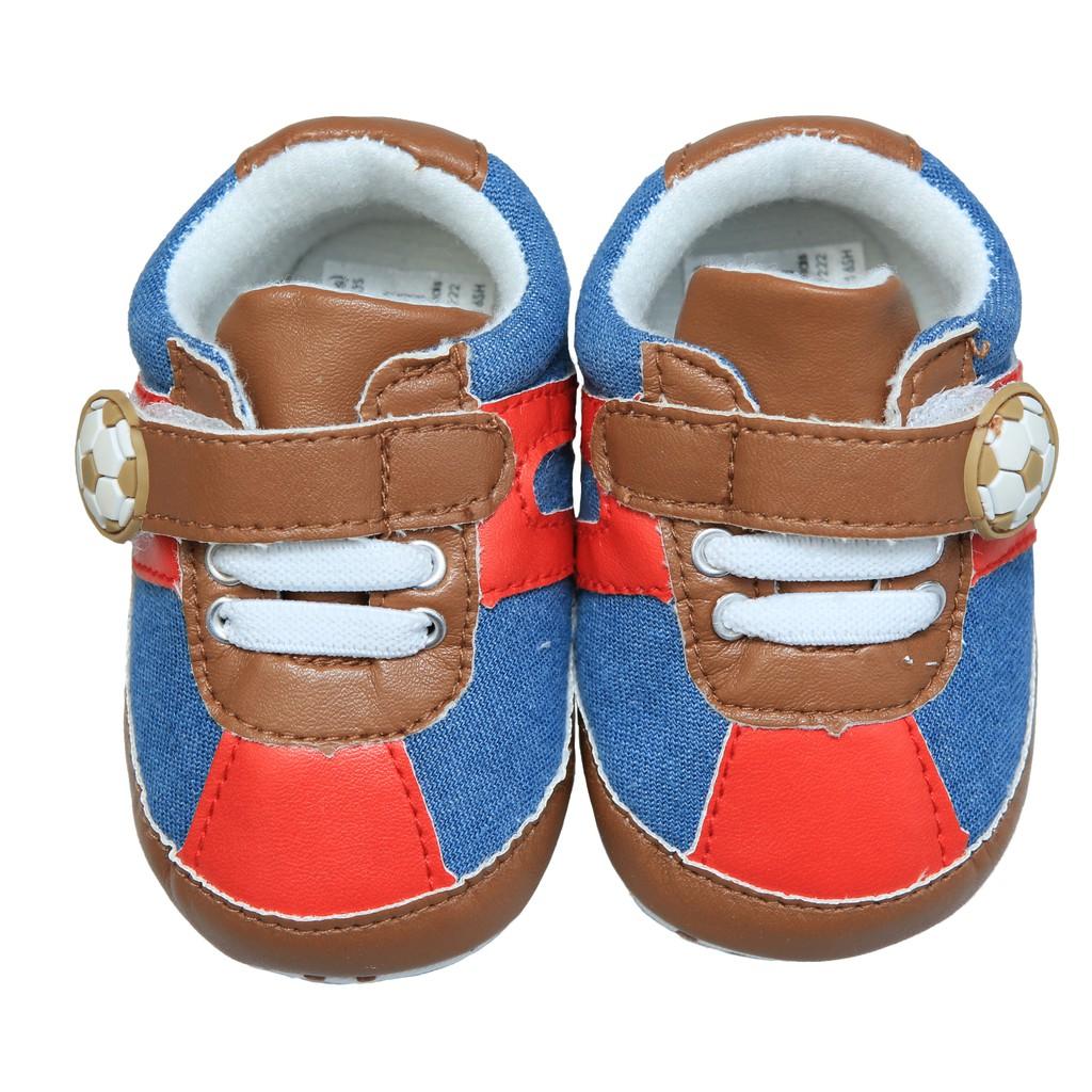 歐美等品牌百搭造型超可愛學步鞋-12紅藍足球【60214】貝比幸福小舖