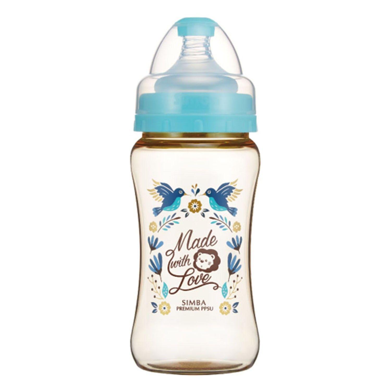 Simba 小獅王辛巴 - 桃樂絲 PPSU 寬口雙凹中奶瓶-蔚藍圓舞曲-270ml