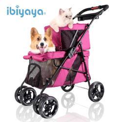 IBIYAYA依比呀呀 FS1770 雙層子母寵物推車小巴-羅曼紅
