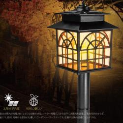 【KINYO】太陽能LED庭園燈-黃光(GL-6025)