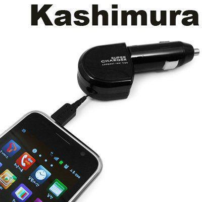 車之嚴選 cars_go 汽車用品【AJ-335】日本Kashimura 點煙器 microUSB伸縮捲線充電器