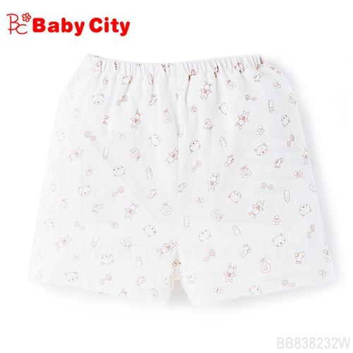 【娃娃城BabyCity】有機棉短褲-米白
