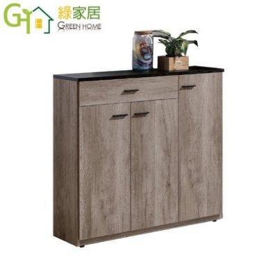 【綠家居】安圖格 時尚3尺木紋三門鞋櫃/玄關櫃(五色可選)