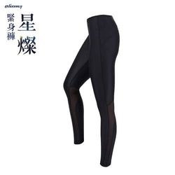 HODARLA 女星燦緊身長褲-慢跑 路跑 緊身褲 束褲 內搭褲 顯瘦 台灣製 黑