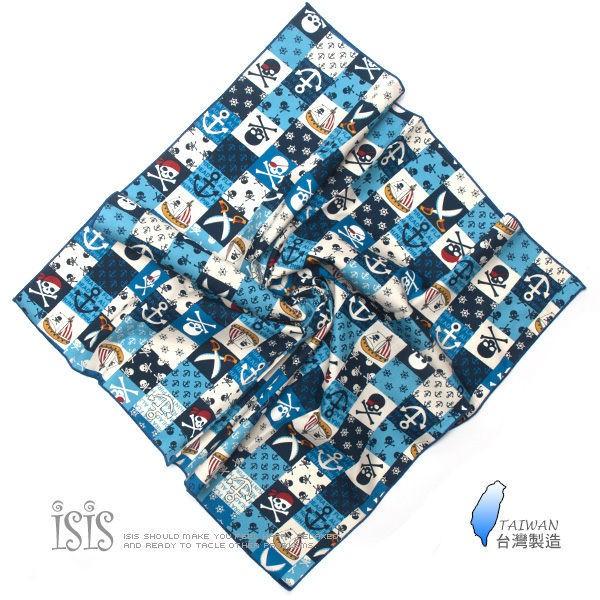 KURO-SHOP台灣製造 藍色系加大版 海盜風格 頭巾