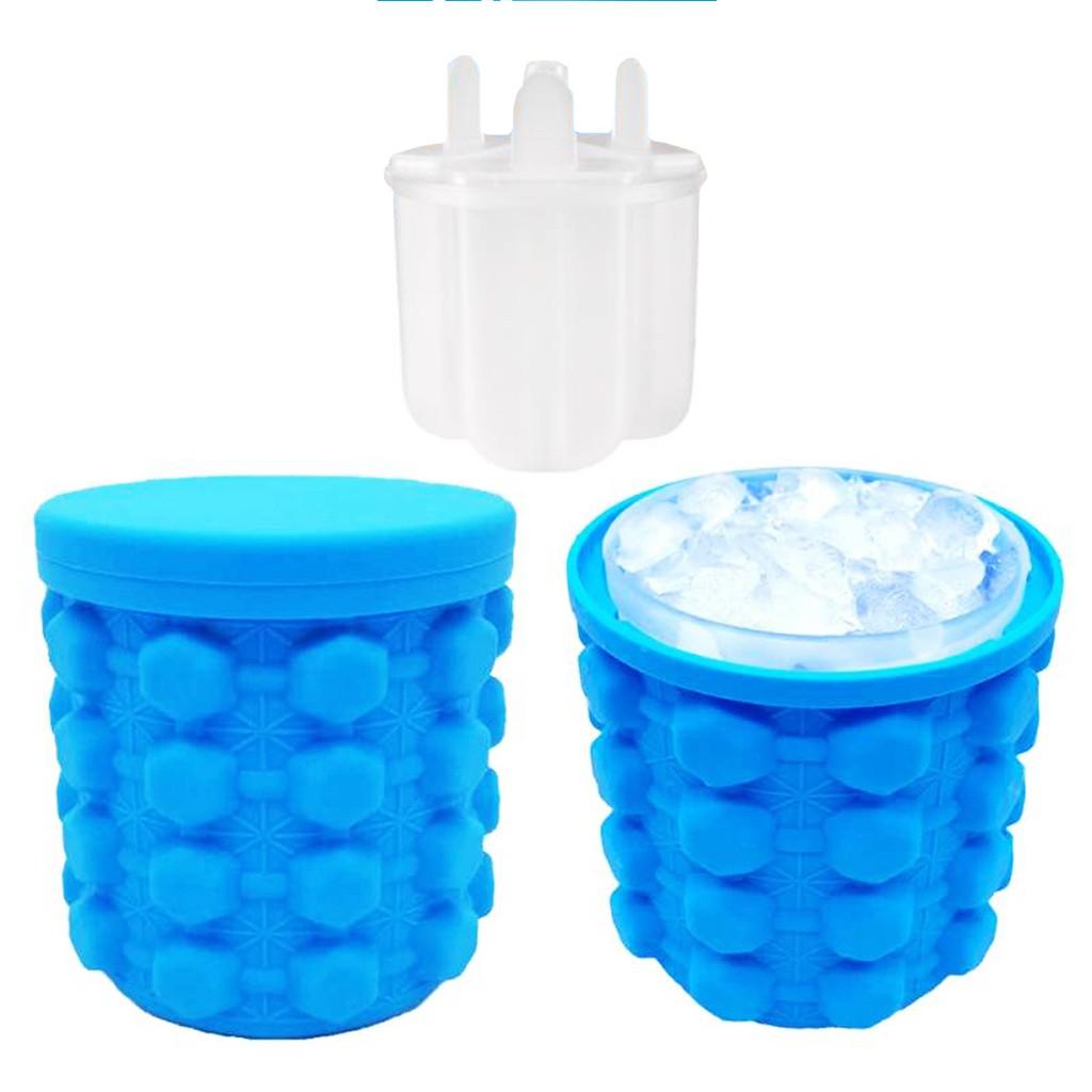 二代多功能環保矽膠製冰桶 梅花款 愛心款 結冰塊製冰棒 二合一夏日冰桶