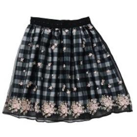 ロディスポット(LODISPOTTO)/フェアリーフラワーギンガムスカート / mille fille closet